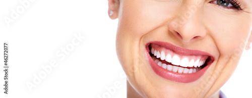 Obraz Beautiful woman smile. - fototapety do salonu