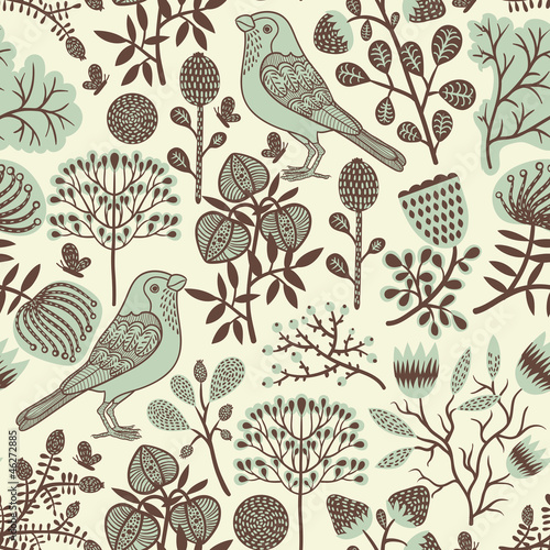 Seamless forest pattern