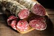 Leinwandbild Motiv salame crudo italiano