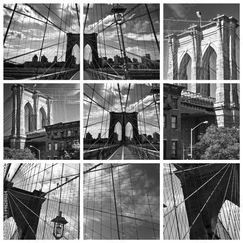kolaz-brooklyn-bridge-czarno-bialy-nowy-jork-usa