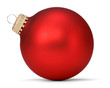 canvas print picture - red christmas ball