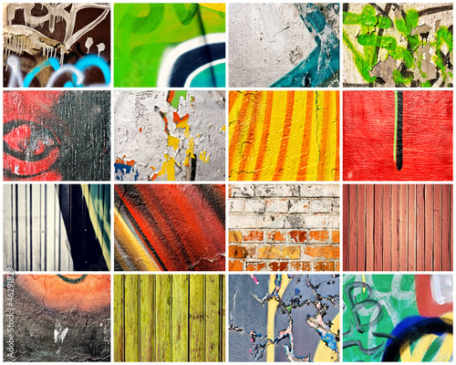 Acrylic Prints Graffiti collage Abstract walls
