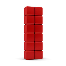 12 Blank Red Equilateral Cubes...