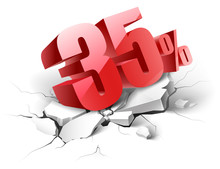 35 Percent Discount Icon