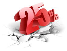 25percent Discount Icon