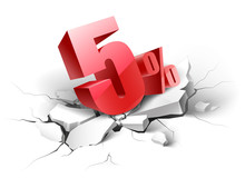 5 Percent Discount Icon