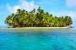 canvas print picture - Paradies - Strand auf kleiner Insel