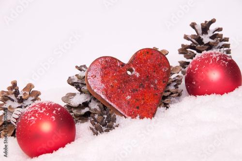 Herz Rot Weihnachtsdeko Christbaumkugeln Tannenzapfen Buy This
