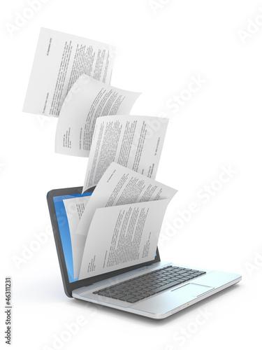 Fotografía  Downloading of documents.