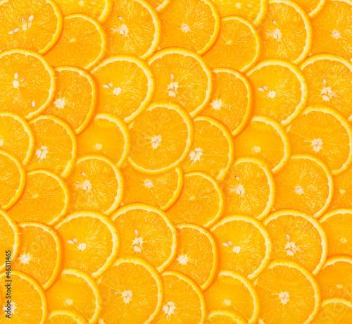 Photo Stands Slices of fruit Sliced orange background
