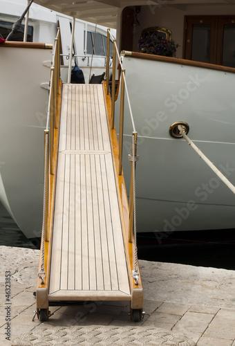 Keuken foto achterwand Schip Yacht boarding ladder