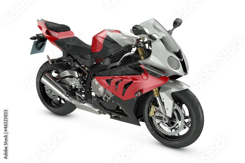 Foto op Canvas Motorfiets Red Sport Motorcycle