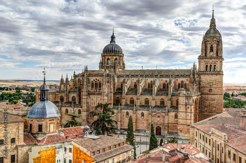 view to the Cathedral of Salamanca, Spain
