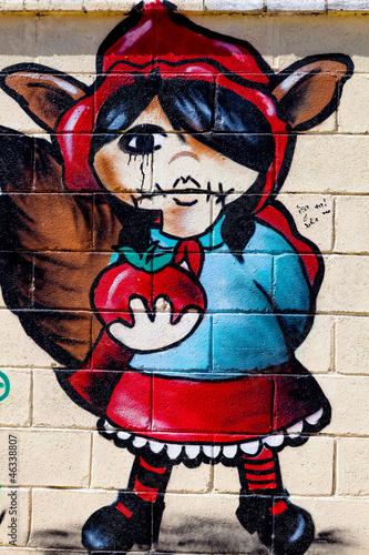 graffiti-czerwony-kapturek