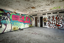 Abandoned Building, Grunge Wall