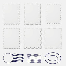Blank Stamp Borders White