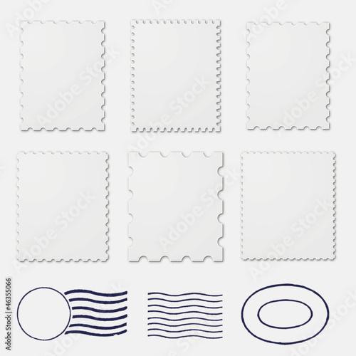 Fototapeta Blank stamp borders white obraz