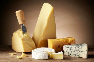 Fototapeta Various types of cheese