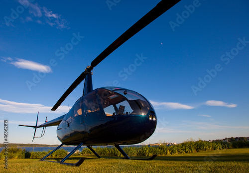 Canvas Prints Helicopter Robinson R-44