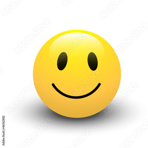 Fotografie, Obraz  Smile Icon Vector