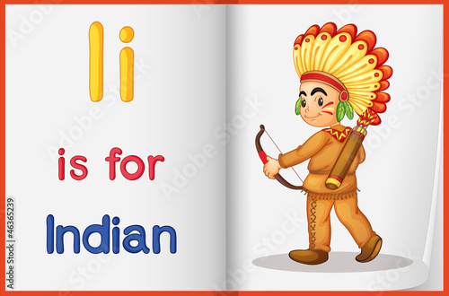 Photo Stands Indians Vocabulary learning sheet
