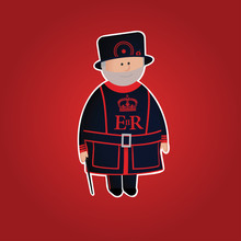 Cute Tower Of London Beefeater...