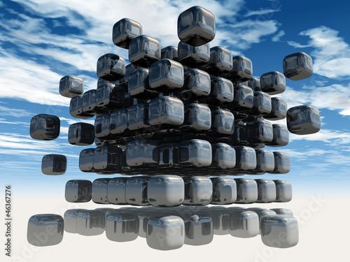 Canvas Print 3D Cubes
