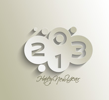 New Year 2013 Background. Vect...