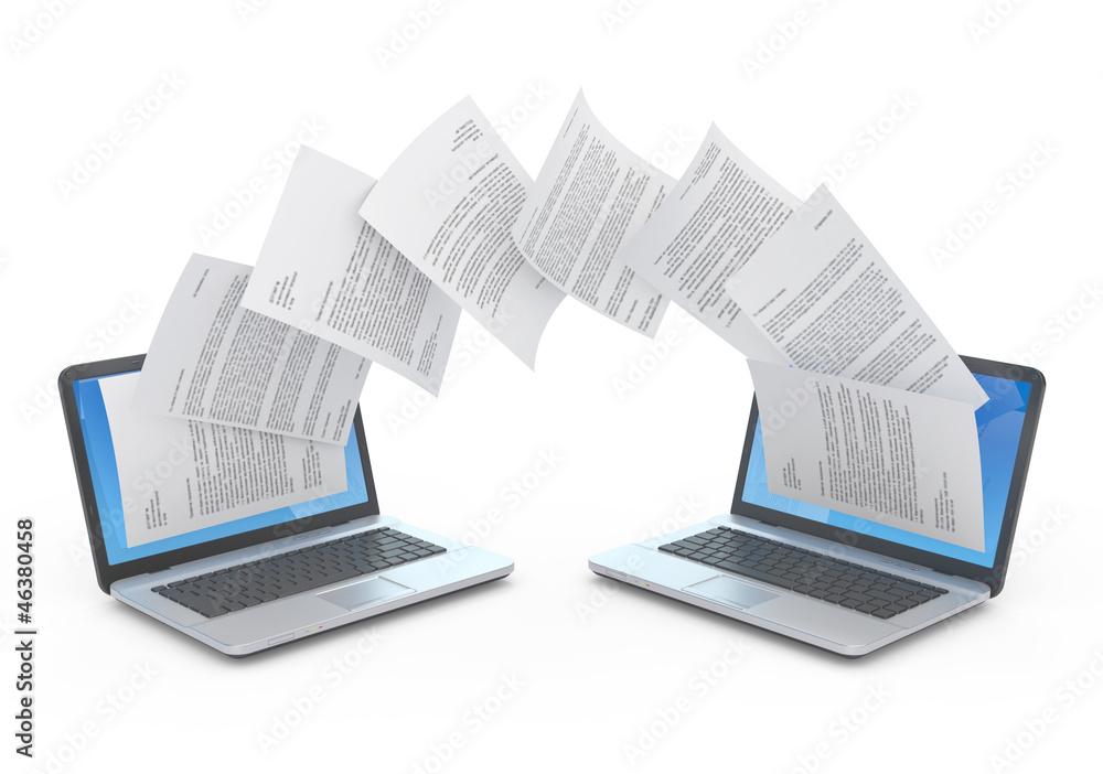Fototapety, obrazy: Files transfer.