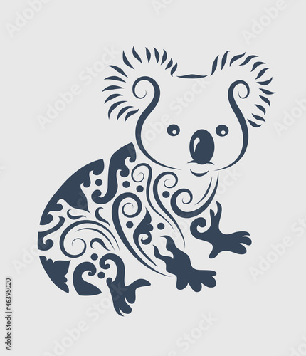 Koala tattoo design