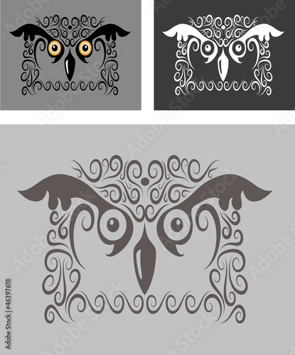 Bird ornament 5 (owl)