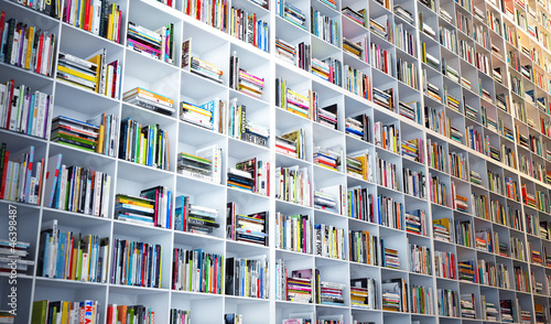 Aluminium Prints Library Großes Bücherregal - huge Bookshelf