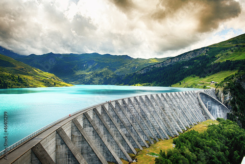 Photo sur Aluminium Barrage Weir of Roselend