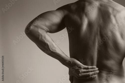 Fotografie, Obraz  Muscular Man with Backache
