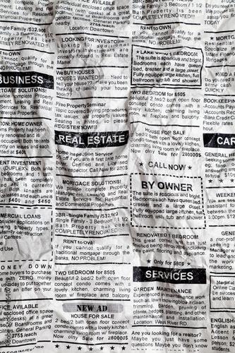 Fotobehang Kranten Crumpled Newspaper