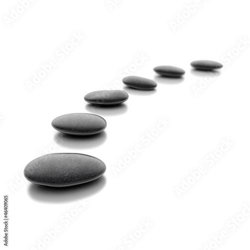 Zen Steine auf weißem Hintergrund - 46409065