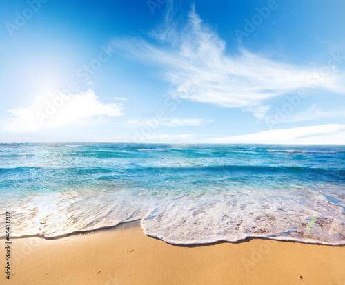 Foto-Kissen - beach and sea