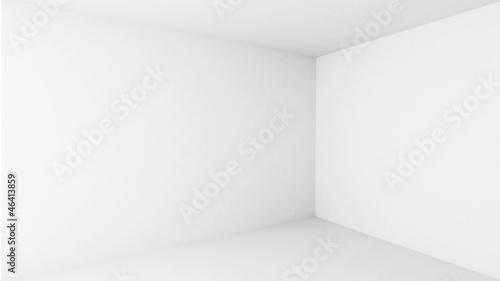 Fototapeta Abstract architecture background. Empty white room interior obraz