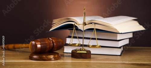 Fotografering  Wooden gavel barrister, justice concept