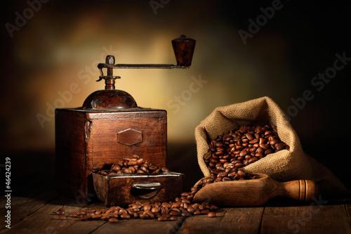 Tuinposter koffiebar antico macinino da caffè