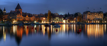 Ouchy Panoramic At Twilight, Lausanne, Switzerland