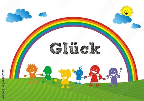 Foto op Aluminium Regenboog Glück - Regenbogenkinder ~ Rainbow Children