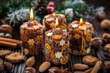 Rustic Christmas Candles With ...