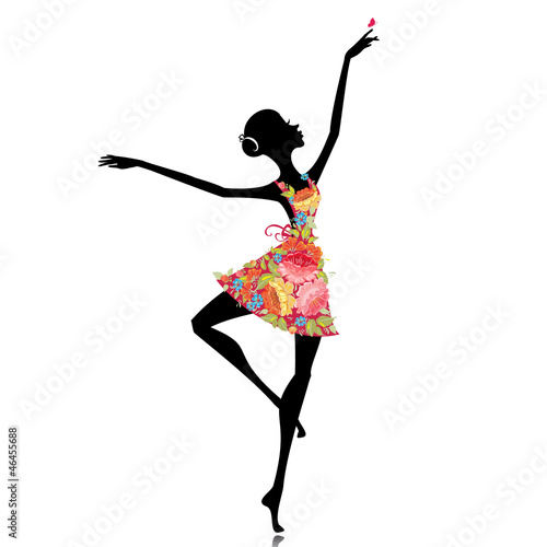 Recess Fitting Floral woman ballerina in a flower dress