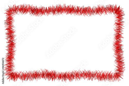 Obraz Christmas red tinsel frame - fototapety do salonu