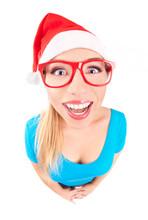 Photo Of A Funny Santa Girl
