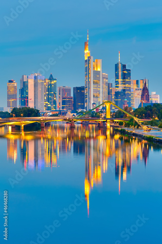Photo Stands Frankfurt after sunset