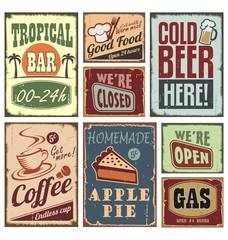 Fototapeta Vintage style signs