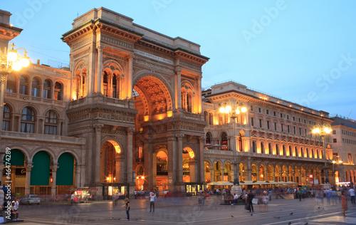 Papiers peints Milan Vittorio Emanuele II gallery in Milan, Italy
