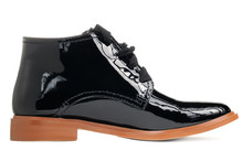 Stylish Black Patent Leather W...